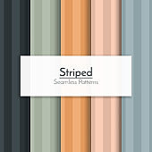 Set of striped seamless patterns