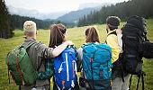 Trek Hiking Destination Experience Adventure Happy Lifestyle Concept