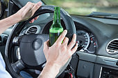 Driver with problems of alcohol addiction.