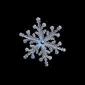 Snowflake isolated on black background