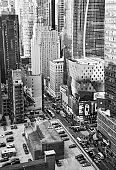 Aerial View of 8th Avenue, NYC.