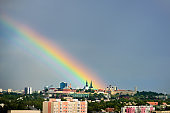 Big rainbow over Tallinn, Estonia