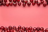 Tasty cherries on color background