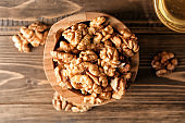 Composition with walnuts