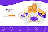 Fintech (Financial Technology) web design template