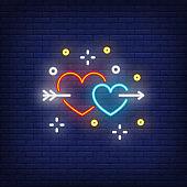 Valentines day neon sign