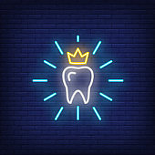 Teeth care neon sign