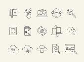 Database line icon set