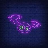 Cute bat neon sign