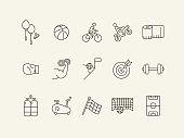 Wellness line icon set