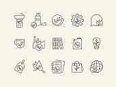 Eco technology icons