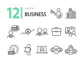 Business icon set 12