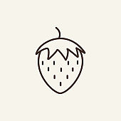Strawberry line icon