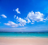 Beautiful beach and tropical sea and blue sky, phuket, thailand