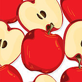 fruit pattern background graphic apple