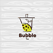 bubble tea icon graphic template