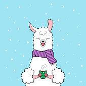 Cute llama character