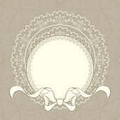Vintage background with ribbon