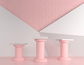 Geometric shape in pastel colors.