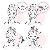 cartoon woman with beard problem