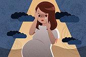 pregnant woman feel depress