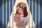 postpartum depression concept