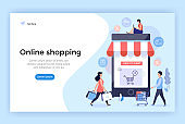 Online shopping concept illustration.