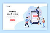Mobile marketing concept illustration.