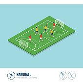 Professional sports competition: handball