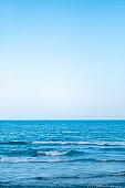 tropical white beach with blue sky