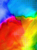 Abstract Background - Vibrant Multi-Colored Halftone Pattern