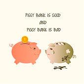 Piggy sick and piggy healthy.