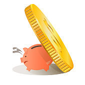 Vector picture pig piggy bank