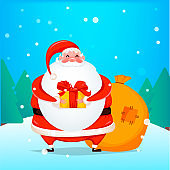 Merry Christmas. Cheerful Santa Claus
