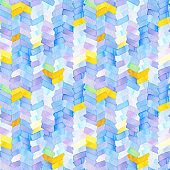 Seamless pattern with abstract geometric figures.