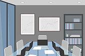 Empty meeting room. Vector illustration