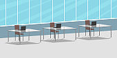 Office open space. Vector illustration
