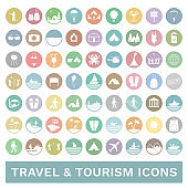 Travel and tourism icon set. Vector