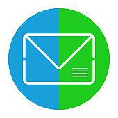 Conceptual e-mail symbol. Envelope icon. Vector