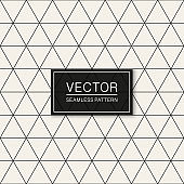 Vector seamless geometric simple pattern. Thin grid texture. Repeating abstract minimalistic triangle background