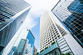 View of are modern buildings exterior at Hong Kong