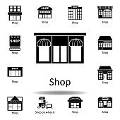 shop icon. Signs and symbols can be used for web, logo, mobile app, UI, UX