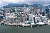 Hong Kong from drone view