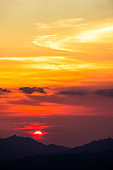 Majestic tropical sunset, Hong Kong