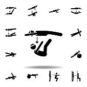 fitness, motion, toe icon. Element of fitness illustration. Signs and symbols icon can be used for web, logo, mobile app, UI, UX on white background