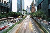 Hong Kong,urban street scene