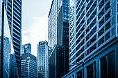 Modern skyscrapers shot, Hong Kong