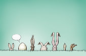 Some Easter bunnies with surprise egg