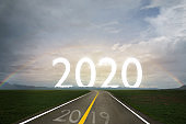 2020 new year with goal concept
