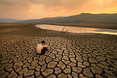 Water Crisis and Climate change concept